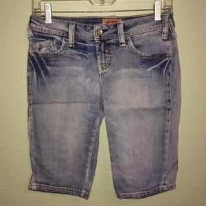 Pants - Juniors size 3 blue denim Bermuda shorts